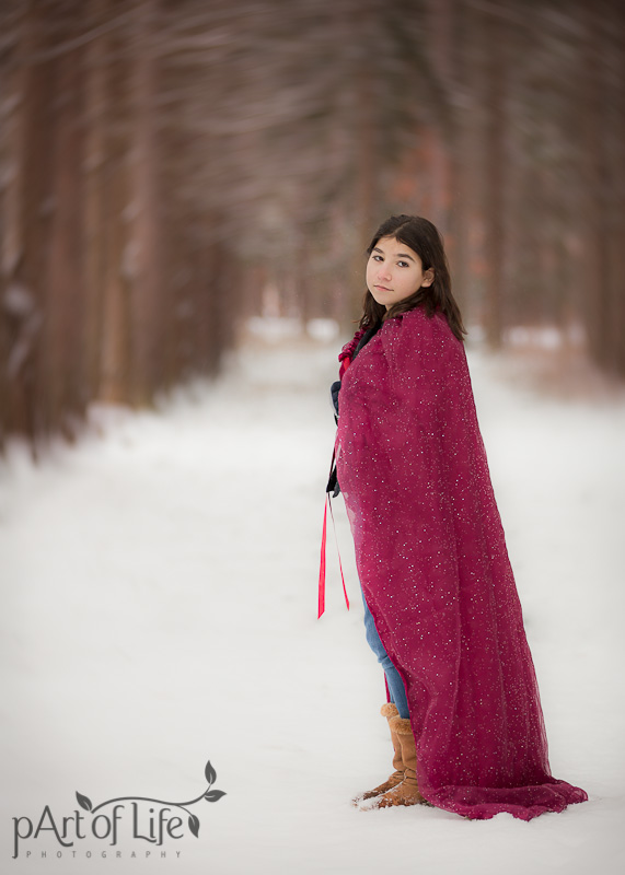 Styled Teen Winter Portrait Session by pArt of Life Photography LLC