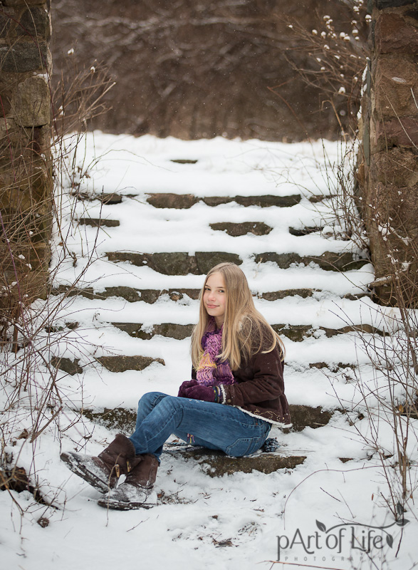 Winter Portraits by pArt of Life Photography, Oakland County Photographer