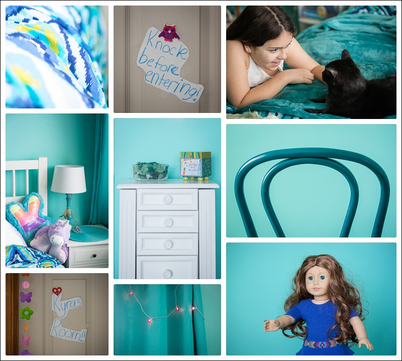 Aqua tween bedroom make-over
