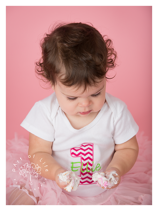 Cake Smash finish to Baby Plan photo sessions with pArt of Life Photography
