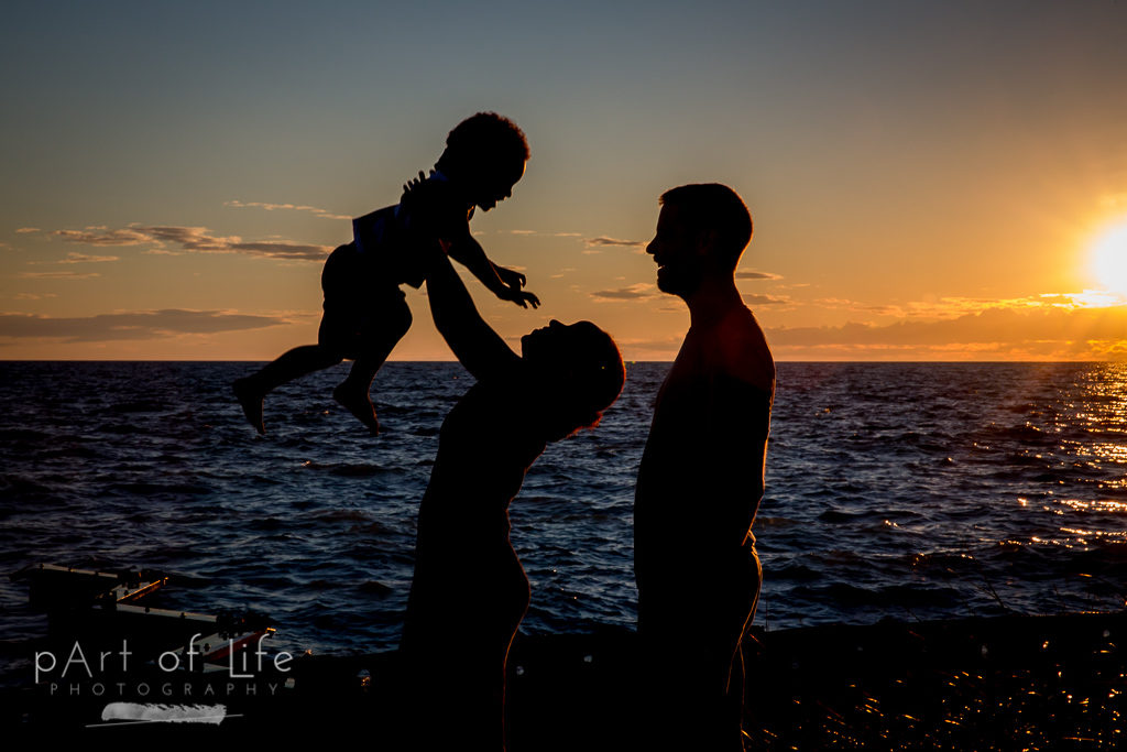 Point Betsie family sunset 2016