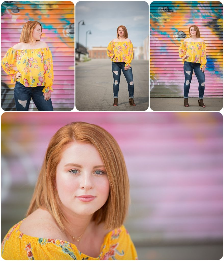 Rochester senior wearing yellow floral blouse