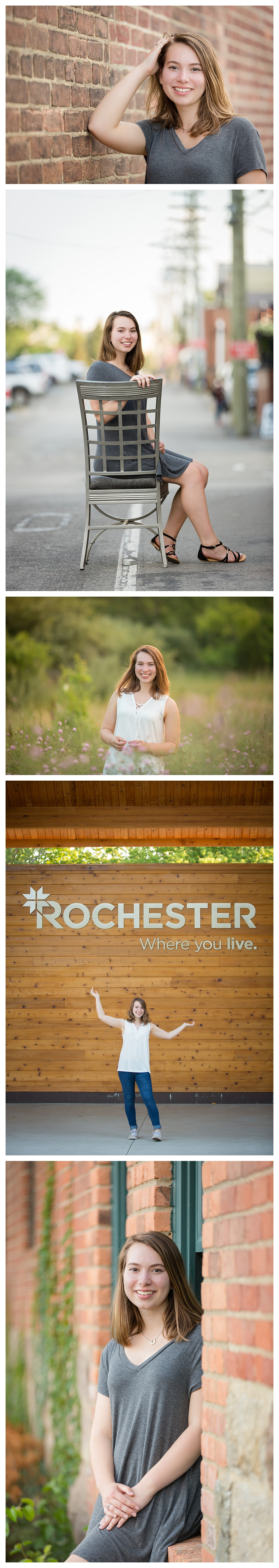Rochester Michigan Senior Photography downtown
