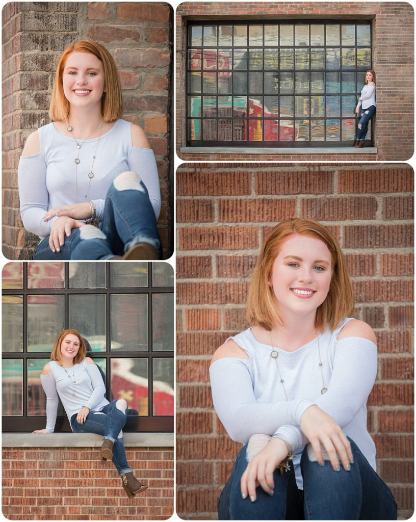 Senior portrait in Rochester