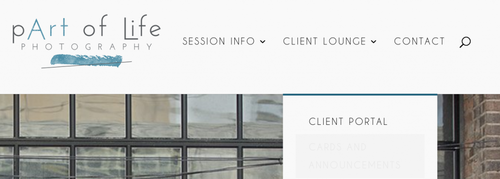 Client portal menu option