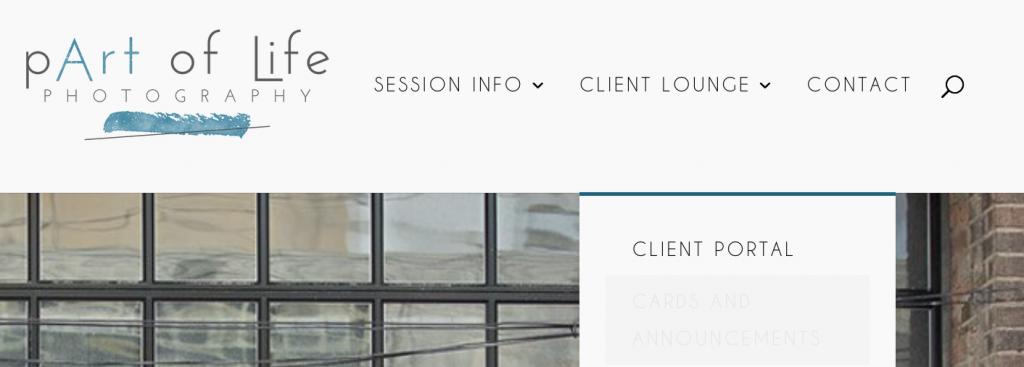 Client portal menu option
