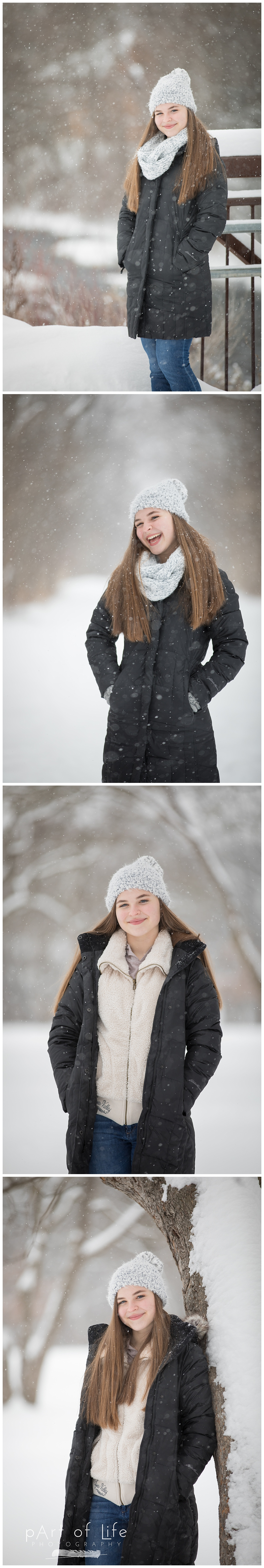 Rochester Park Teen Snow Photo Session
