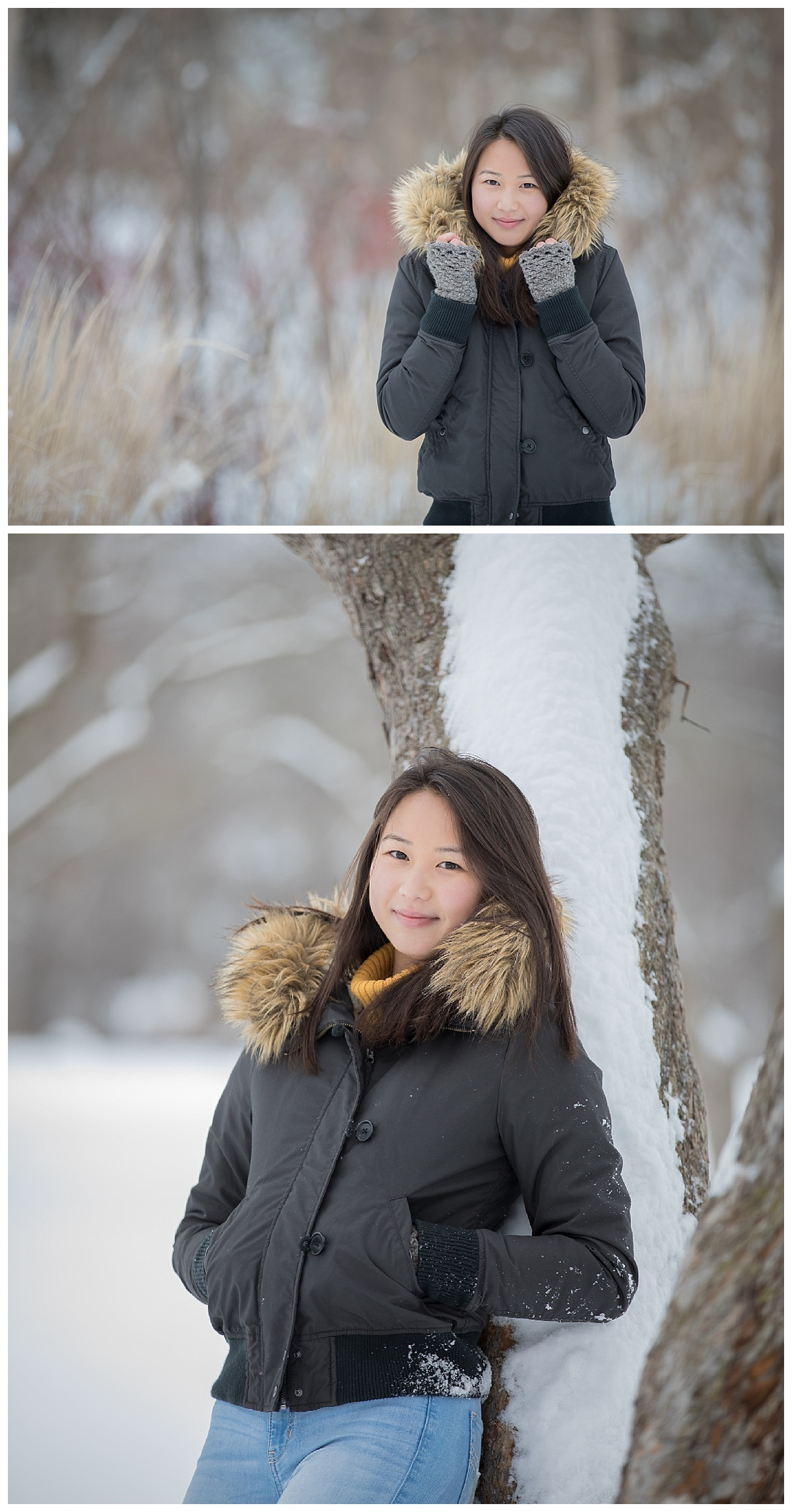 beautiful teen having fun snow photos at rochester park