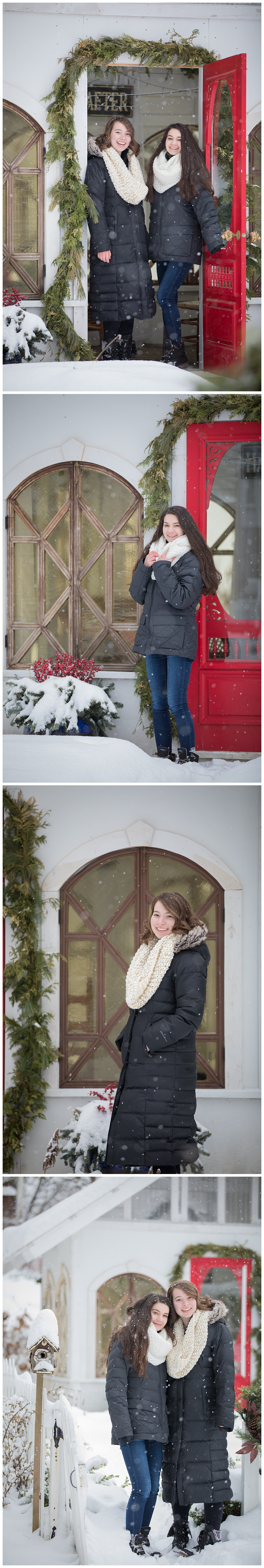 Senior Friends Photo Session at Snowy Cottage