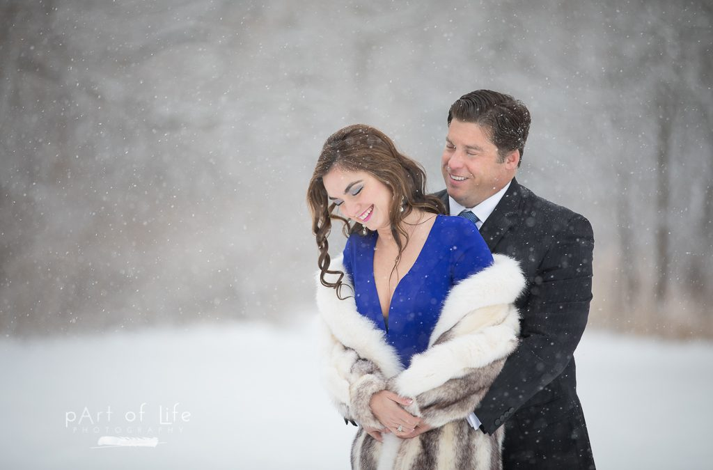 Snow Engagement Photo Session