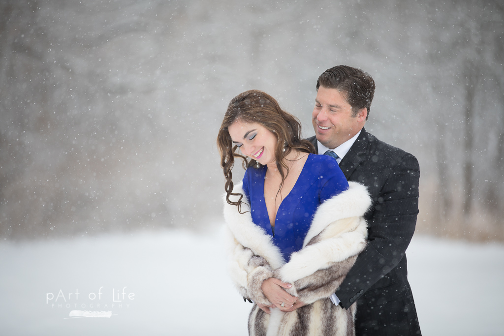 snow engagement phtoo session