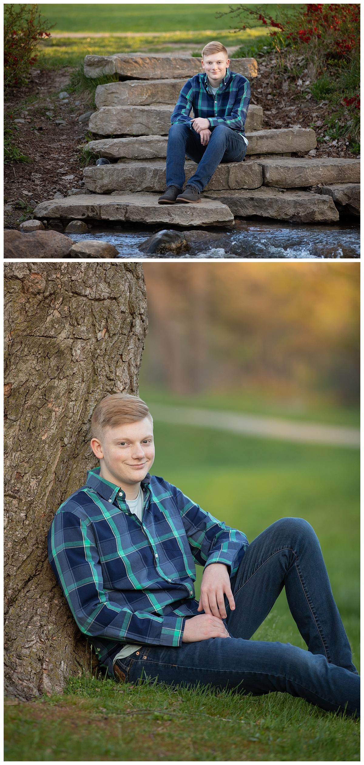 rochester park sernior portraits