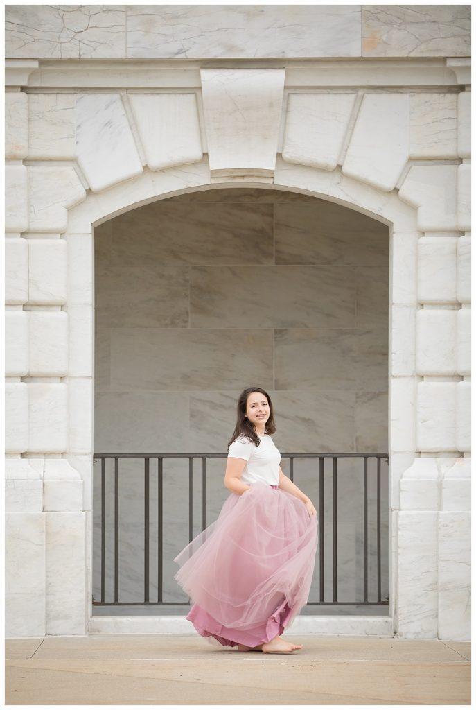 teen skirt photo session in detroit