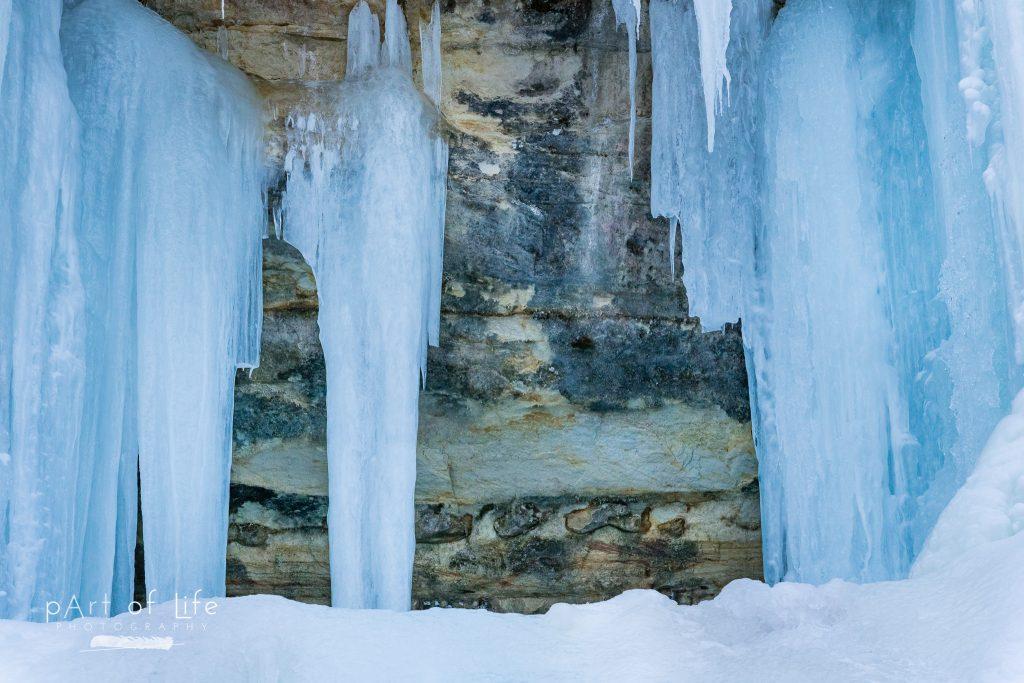 Munising Ice Curtains Sand Point