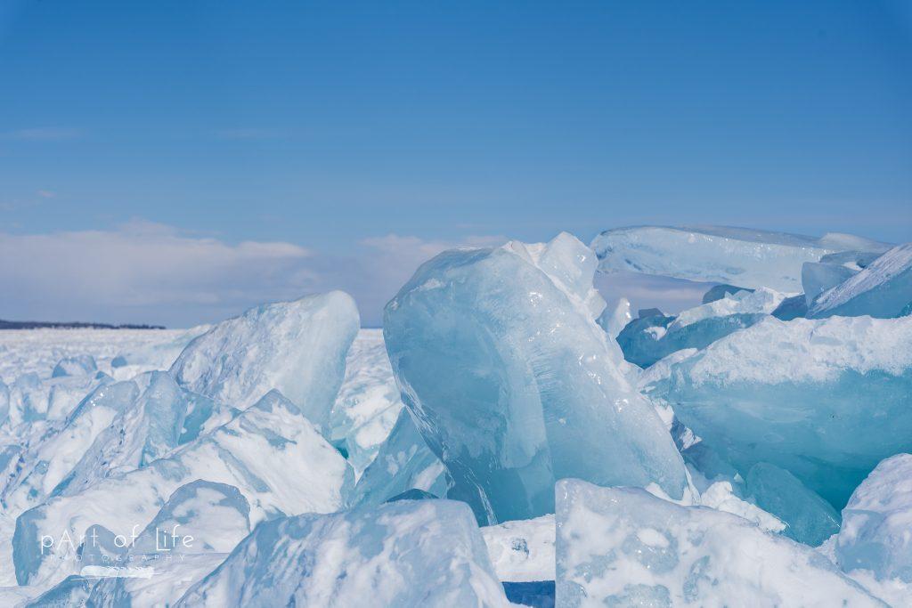 Mackinaw City Blue Ice